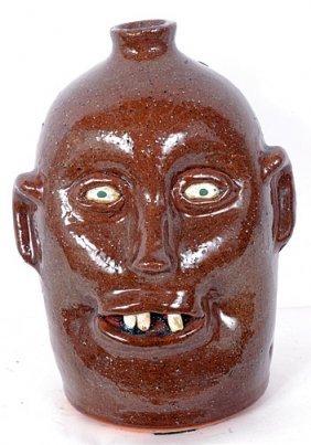 Reggie Meaders Face Jug W Missing Tooth.