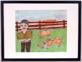 S.L. Jones. Boy With Pigs