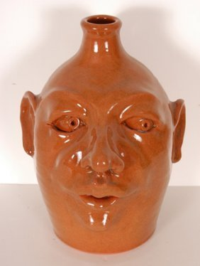 Westmoore Pottery. Face Jug.
