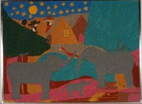 Floretta Warfel. Elephants.
