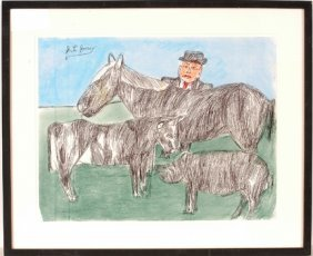 S.L. Jones. Man With Animals.