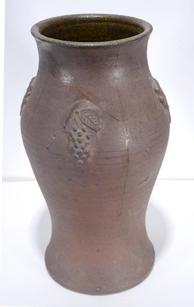 Meaders Family (attrib). Applied Grape Decorated Vase.