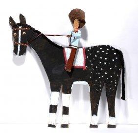 Mamie Deschillie. Cowboy On Horseback.