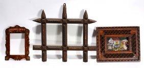 3 Tramp Frames & Bernice Sims Painting.