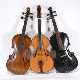 Three Animal Head Fiddles.