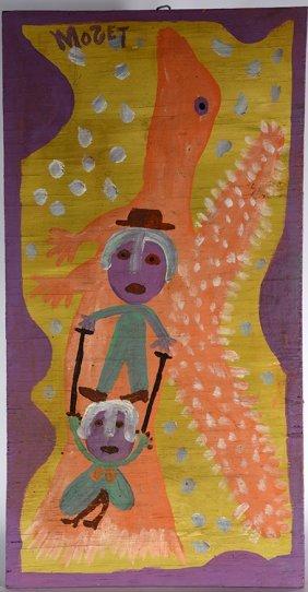 Mose Tolliver. Orange Bird W Mose & Willie Mae.