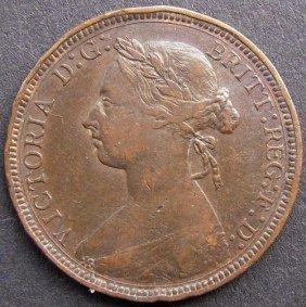 Bronze Coin - Half Penny. 1889 Uk