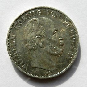 German Empire Silver Coin - 1 Sieges Thaler, Wilh