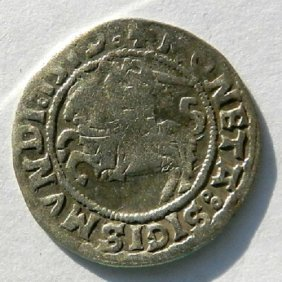 Lithuanian Knight Cent - Silver Coin Made In 1519