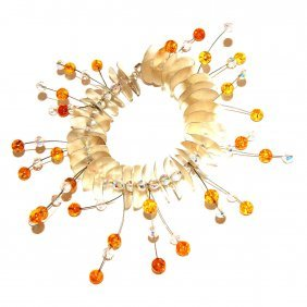 Bracelet From Baltic Amber Silver And Swarovski C