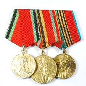 Three Medals Set From Ussr