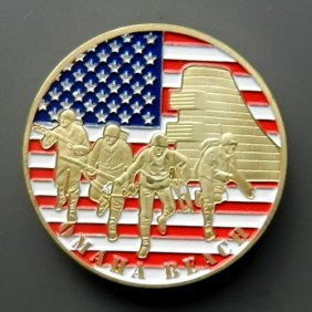 Gold Plated Commemorative Medal Designed For D-d