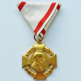 Jubilee Cross 1848-1908 Military. Austria Kaiser