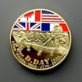 Usa. Gold Plated Commemorative Medal Designed For