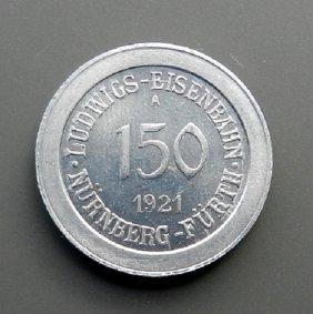 Emergency Money - 150 Pfennig. Railway Nurnberg -