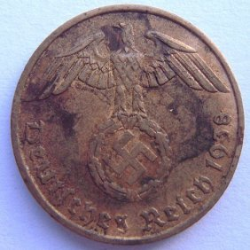 German Iii Reich, 5 Pfennig Metal Coin Made In 19
