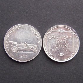 Antique Car Coin From 1970-75. With Image Of Stev