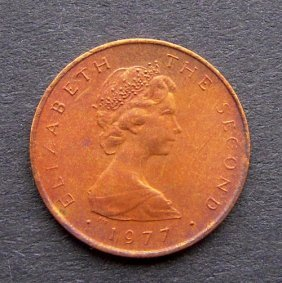 . 1/2 Penny Coin. Bagged And With A Full Descript