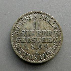 . 1 Silber Groschen Coin From 1869. German Empire