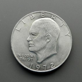 One Dollar From 1972. United States Of America.