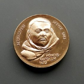 Cooper Medal From The German City Spayer.