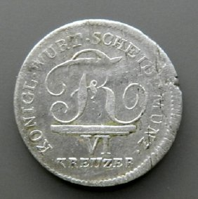 Silver Coin - 6 Kreutzer German Empire