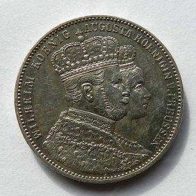 German Empire Silver Coin - 1 Thaler, Wilhelm