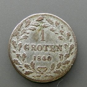Silver Coin - 1 Groten. German Empire - Bremen