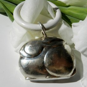 Antiquarian Toy Made By Wmf Silver Plated Rabbit