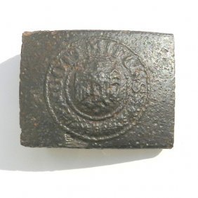 Soldierly Belt Buckle From German Army Wwii