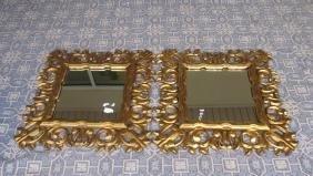 Pair Of Gilt Framed Mirrors