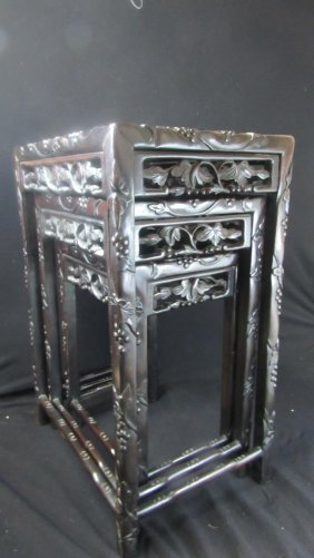 Three Of Chinese Qing Dynasty Furniture Lot 254