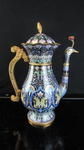 Cloisonne Peacock Teapot
