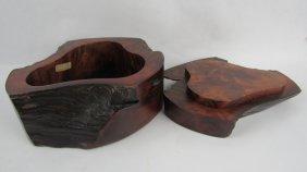 Old Hanughuali Wood Carved Box