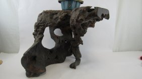 Chinese Rosewood Root Carved Stand