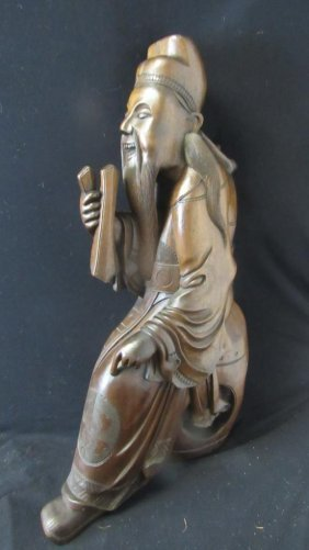Very Old Hand Carved Wood Statue