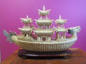 Carved Dragon Ship