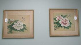 Pair Of Framed Watercolor Prints