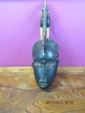 African Wood Mask Of A Lady