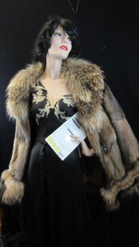 Vintage Brown Puffy Fur Coat