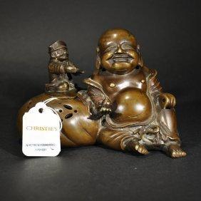 Christie's Bronze Figural Censer