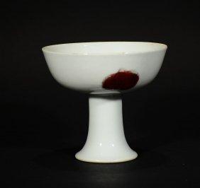 Yongzheng Mark, A Copper-red Stem Cup