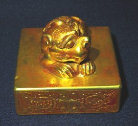 The Lion Gold Seal