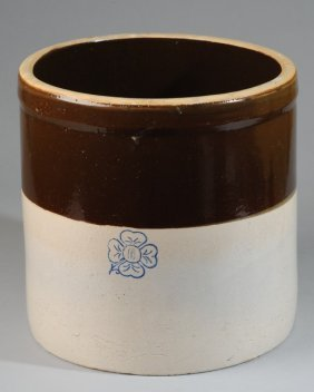 Miller Pottery Al Stoneware Crock Clover Mark Lot 212