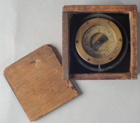 Circa 1900 Brass Ship's Compass