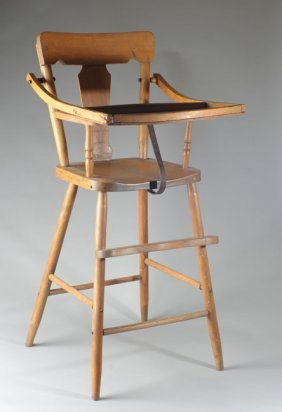 Early 20th C. Child's High Chair