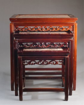 Set Of 3 Chinese Nesting Tables