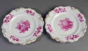 Two Antique Ridgway Dessert Plates