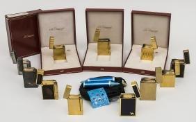 Sammlung 10 Dupont Feuerzeuge / A Collection Of 10
