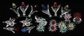 Swarovski Crystal Flowers 22 Pieces